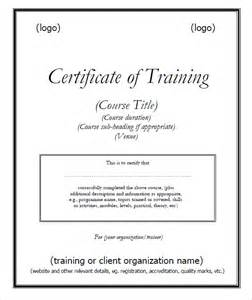 Training Certification Template 6 Free Training Certificate Templates Excel Pdf Formats