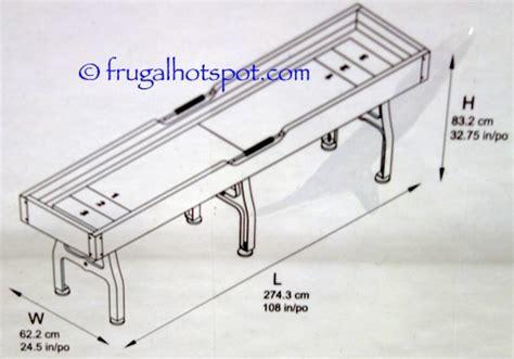shuffleboard tables for sale costco costco vintage shuffleboard table 399 99 frugal hotspot