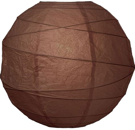chocolate brown 14 quot round rice paper lantern