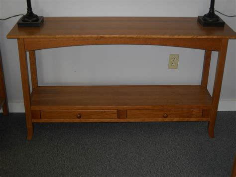Shaker Furniture Of Maine by Shaker Furniture Of Maine 187 Cherry Two Drawer Sofa Table