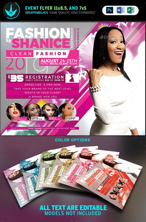 fashion conference flyer template   seraphimblack