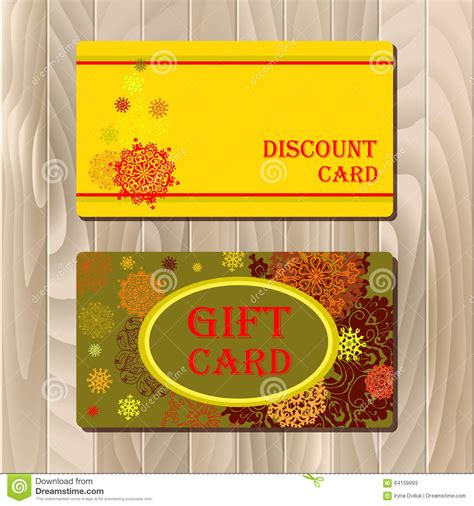 discount card voucher gift certificate coupon template