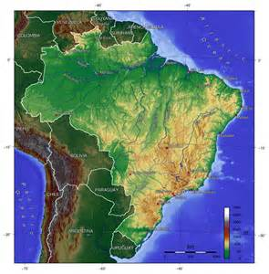 detailed topographical map of brazil brazil detailed