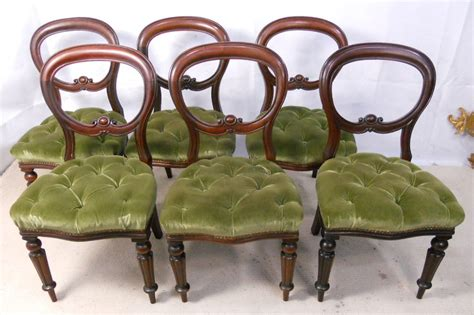 Antique Dining Chair Styles Set Of Six Antique Style Mahogany Dining Chairs Sold