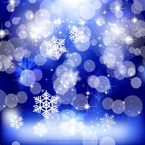 cobalt blue bokeh christmas lights background design