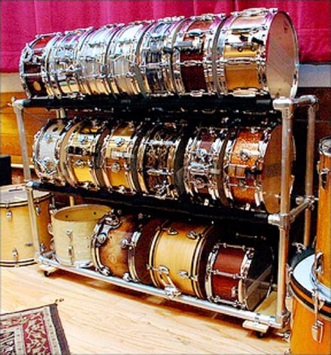 Snare Rack by Snare Drum Display Rack Is Do It Yourself Construct