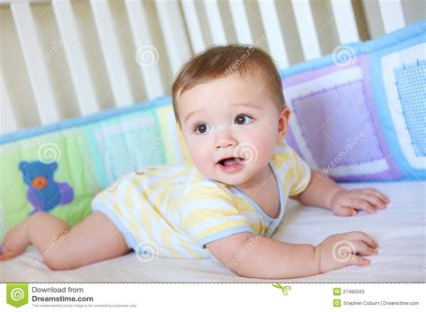 Newborn Baby In Crib by Baby In Crib Stock Photos Image 27480593