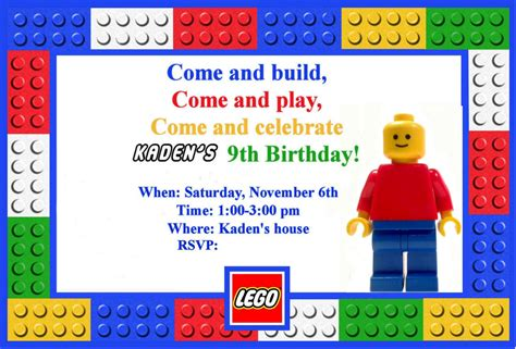lego birthday card template homemaking a lego themed birthday