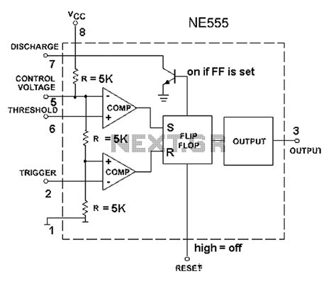 555 chip diagram gt other circuits gt 555 lm555 ne555 timer circuits gt 555