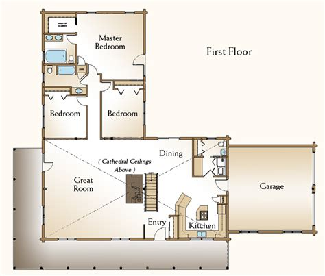 3 bedroom log cabin floor plans the cheyenne log home floor plans nh custom log homes gooch real log homes