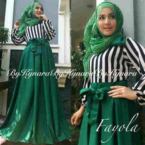 Gamis Baju Muslim Pesta Wanita Hijau fayola by kynara hijau baju muslim gamis modern