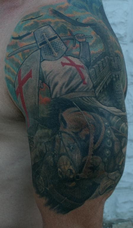 templar knight by larry brogan tattoos