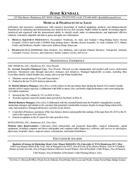 sle cv for pharmaceutical industry pharmaceutical sales resume sle 28 images sle sales