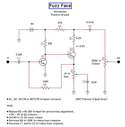 germanium transistor bias germanium transistor bias 28 images e s v fuzz germanium version build your own clone