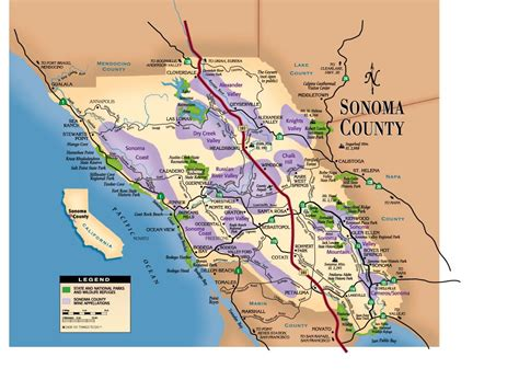 sonoma valley map sonoma county map 101 things to do wine country