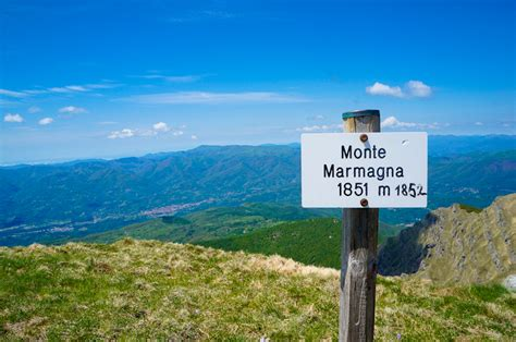 monte di parma the summit of monte marmagna in the apennines italy