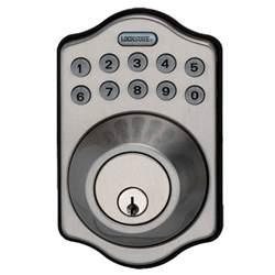 electronic keypad keyless single cylinder satin nickel