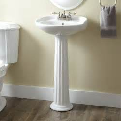 porcelain mini pedestal sink bathroom