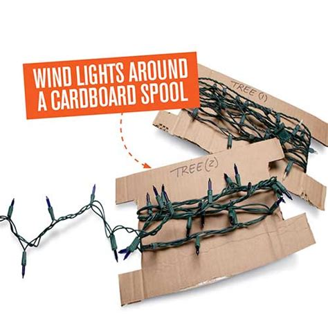 create a diy spool for christmas light storage
