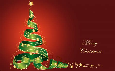 download merry christmas tree vector wallpaper in