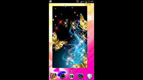 themes for android sparkle v fancy android butterfly live wallpaper with glitter