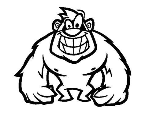 disegno di gorilla peloso da colorare acolore com