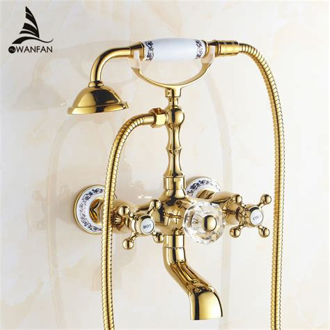 free shipping luxury antique style gold color bath tub