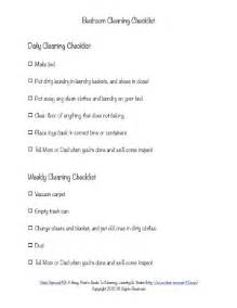 cleaning bedroom checklist bedroom cleaning checklist help kids know expectations