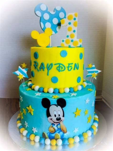 First Birthday Baby Mickey   CakeCentral.com