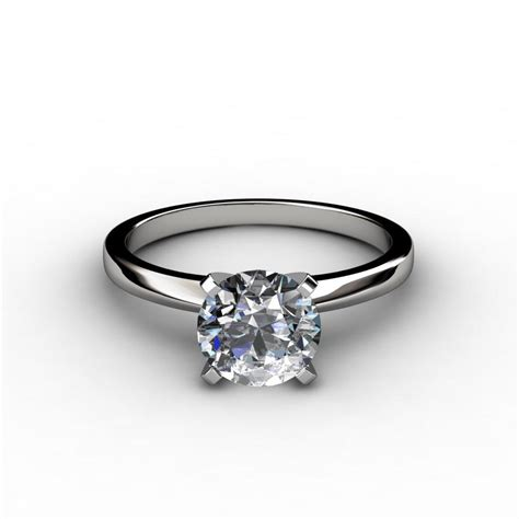 classic 4 prong solitaire engagement ring
