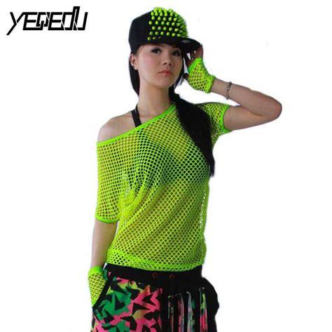 neon clothing 3327 2016 summer neon t shirts hip hop women mesh top