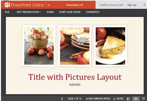 food presentation template for powerpoint online