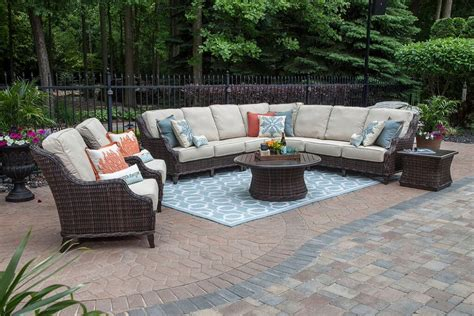 patio furniture seating sets mila collection 9 all weather wicker patio furniture