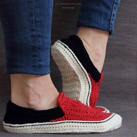 vans slipper pattern free crochet pattern vans style slippers