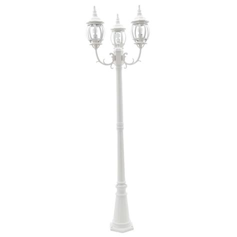 Hton Bay 3 White Outdoor Post Light Hb7017p 06