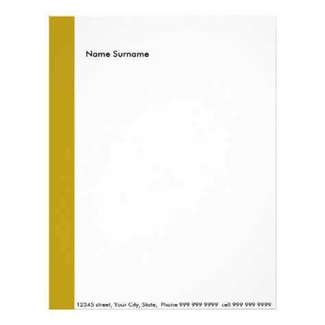create your own letter head letterhead template zazzle