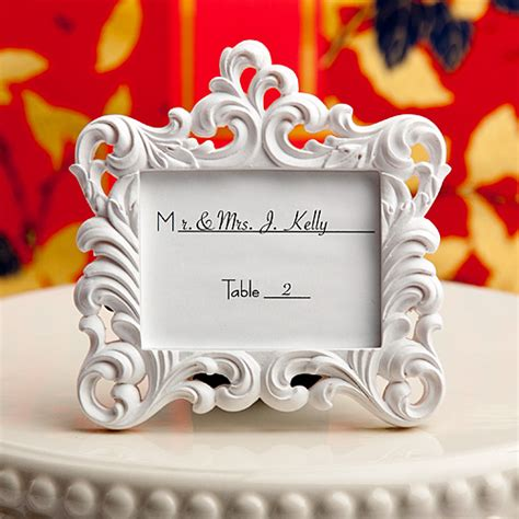 black and white wedding place card holders place card holder picture frame favors
