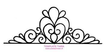 tiara template for cake tenplate tiara