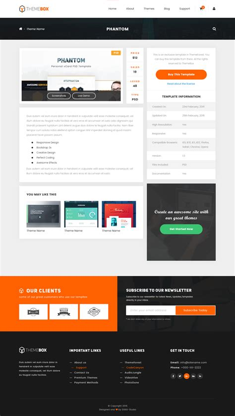 templates envato themebox a psd template for envato authors by team