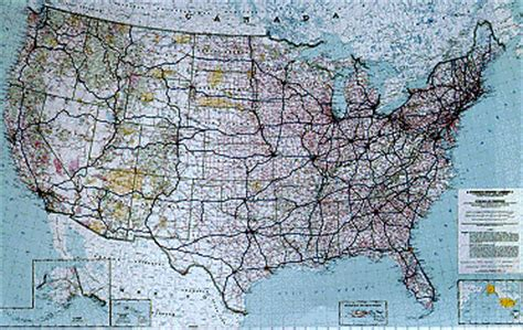 map of united states with cities and highways