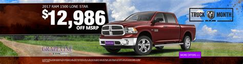 Dodge Jeep Ram Dealer New Vehicle Specials In Dallas Tx Grapevine Chrysler