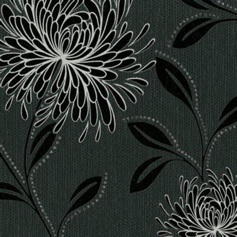 glitter wallpaper hartlepool belgravia decor dahlia designer feature wallpaper black