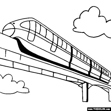coloring page bullet train train and locomotive online coloring pages page 1