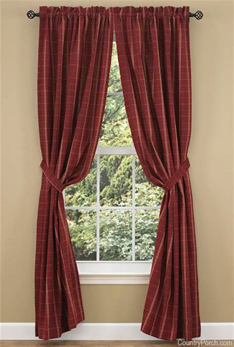 lined country curtains adamstown wine lined tieback curtain panels country