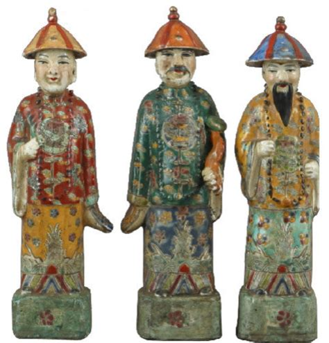 Chinese Bedroom Decor chinese porcelain figures set of 3 asian decorative