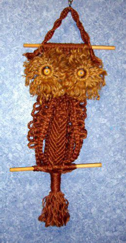 Macrame For Sale - hanging owl macrame b3375 for sale antiques