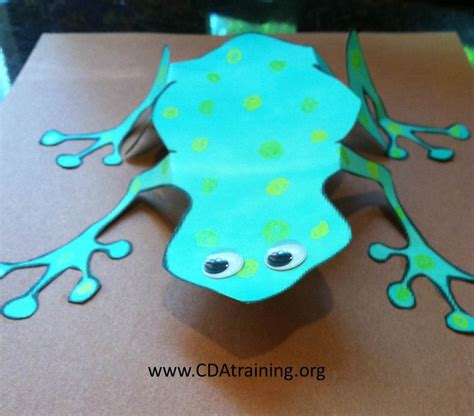 How To Make A 3d Frog Out Of Paper - 123 play and learn child care basics resources frog