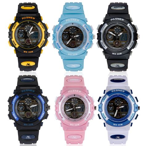 boys childrens sports wristwatches stop