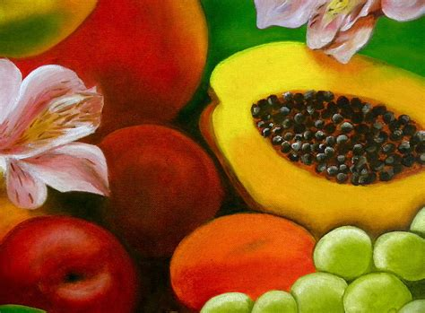 flowers and fruit fruits and flowers painting by diaz