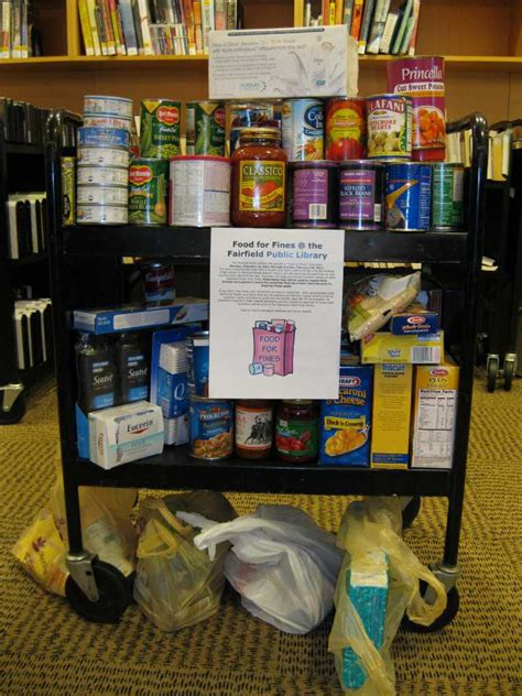 food for fines win win for fairfield library food pantry